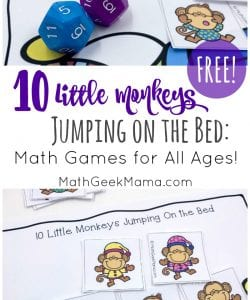 {FREE} Ten Little Monkeys Jumping On the Bed: Math Game for All Ages!