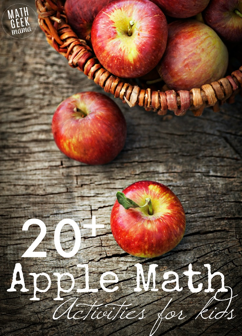 Looking for fun and easy apple math games or hands on challenges for your kids? This HUGE list includes all sorts of ideas for kids of all ages! This will keep you busy all fall long.