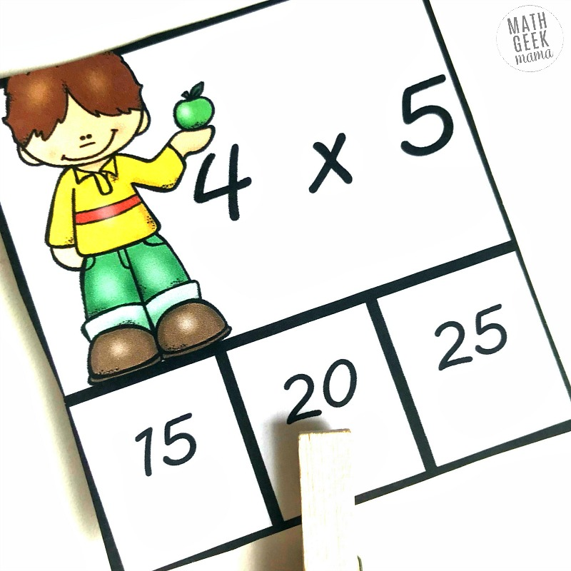 Looking for simple and low prep multiplication facts practice? These clip cards are great for a math center, for early finishers or for kids to practice at home with parents.
