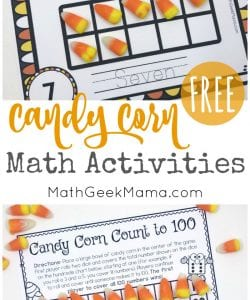 Candy Corn Math: Hands On Activities {With FREE Printables}