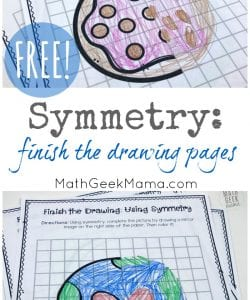 Symmetry: Finish the Picture Pages {Drawing Mirror Images}