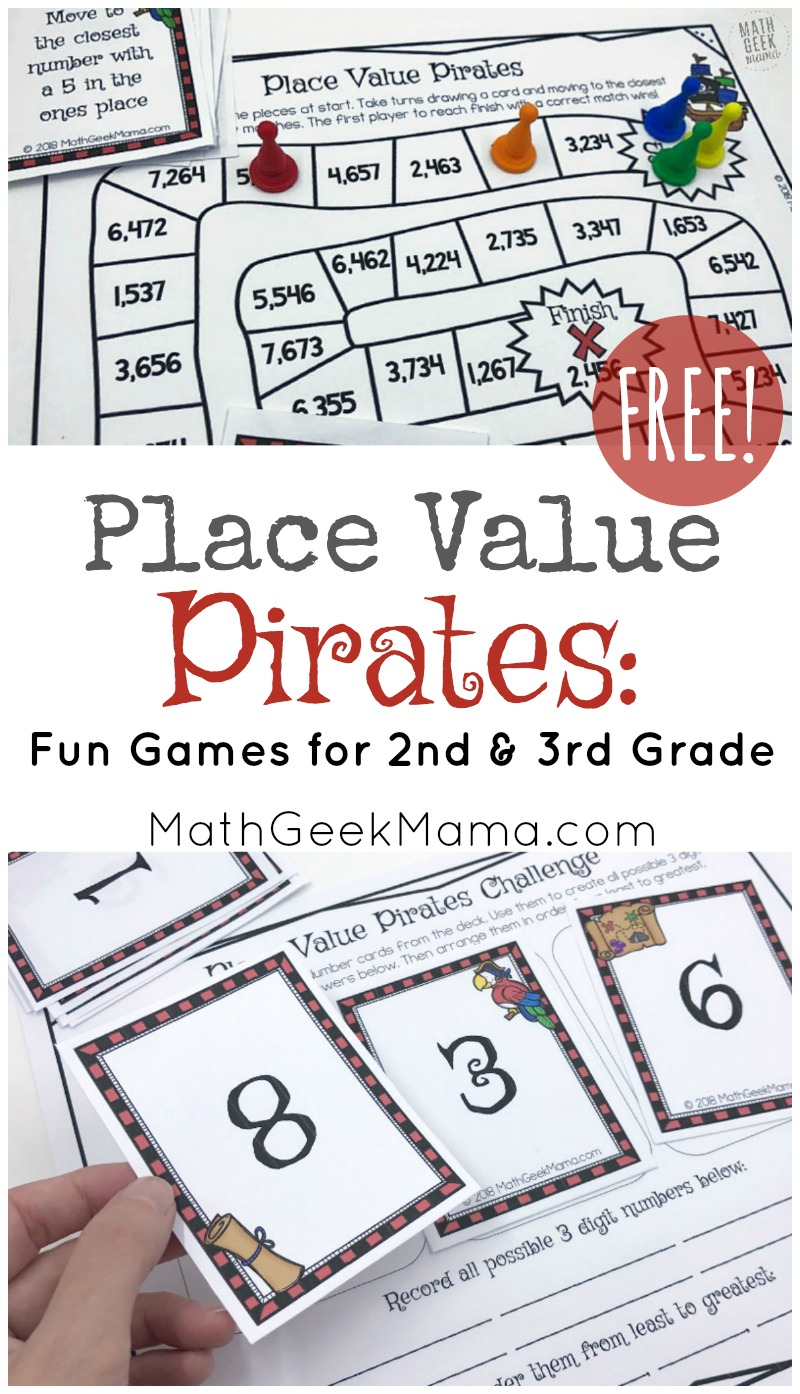 image about Printable Place Value Game identified as Level Cost Pirates: No cost Printable Math Sport