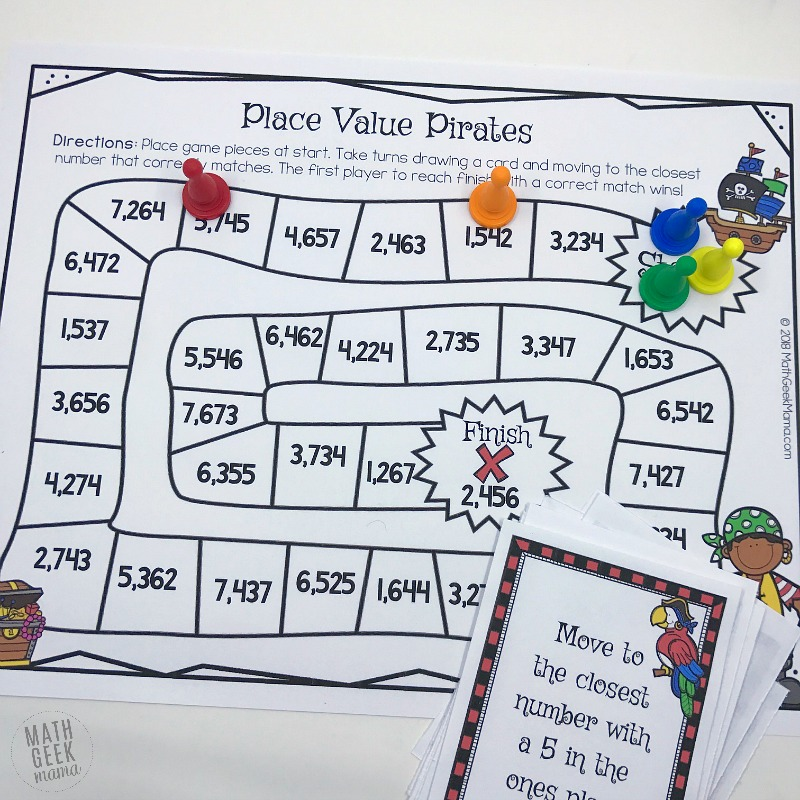 photo relating to Printable Place Value Game identify Space Great importance Pirates: Cost-free Printable Math Activity
