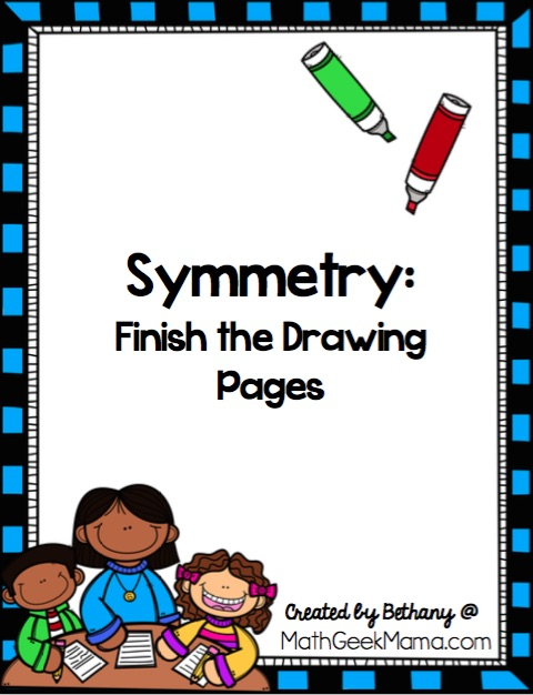 Looking for some extra symmetry practice? These finish the drawing pages are fun for kids of all ages and help deepen their understanding of symmetry. They also include grid lines to help kids be more precise.