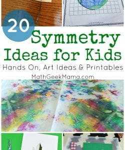 Looking for tons of fun symmetry for kids? This huge list includes hands on teaching ideas, fun symmetry art projects plus cute printable pictures for kids to practice drawing mirror images.