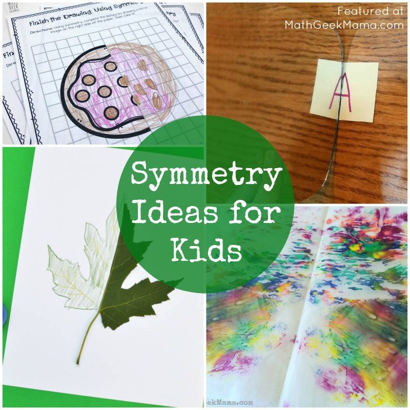 Looking for tons of fun symmetry ideas for kids? This huge list includes hands on teaching ideas, fun symmetry art projects plus cute printable pictures for kids to practice drawing mirror images.