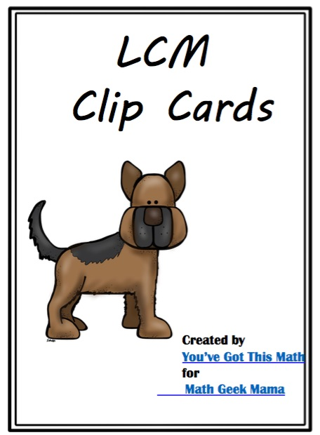Provide some quick and easy least common multiple practice with this cute set of clip cards. This is such an important stepping stone skill, you'll want to be sure that kids are fluent and confident finding the LCM.