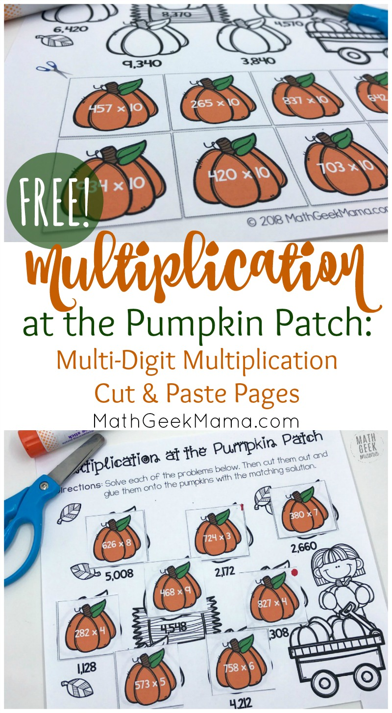 Free Multi Digit Multiplication Worksheets For Fall