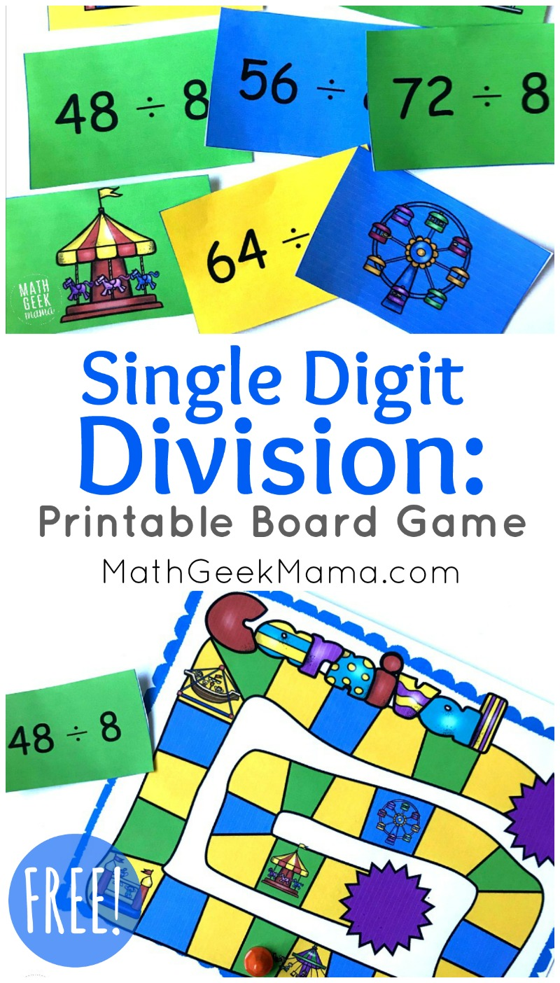 Looking for a quick and easy way to practice division facts? This fun single digit division game is low prep and can be played again and again to help kids master their math facts. Plus, it's FREE for you to download!