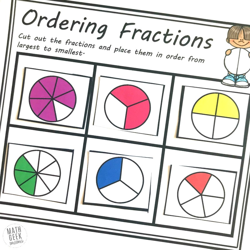 Looking for practice that will help kids make sense of comparing and ordering fractions? This set of cut and paste comparing fractions worksheets uses visual models and increases in difficulty, allowing you to differentiate for the needs of your students.
