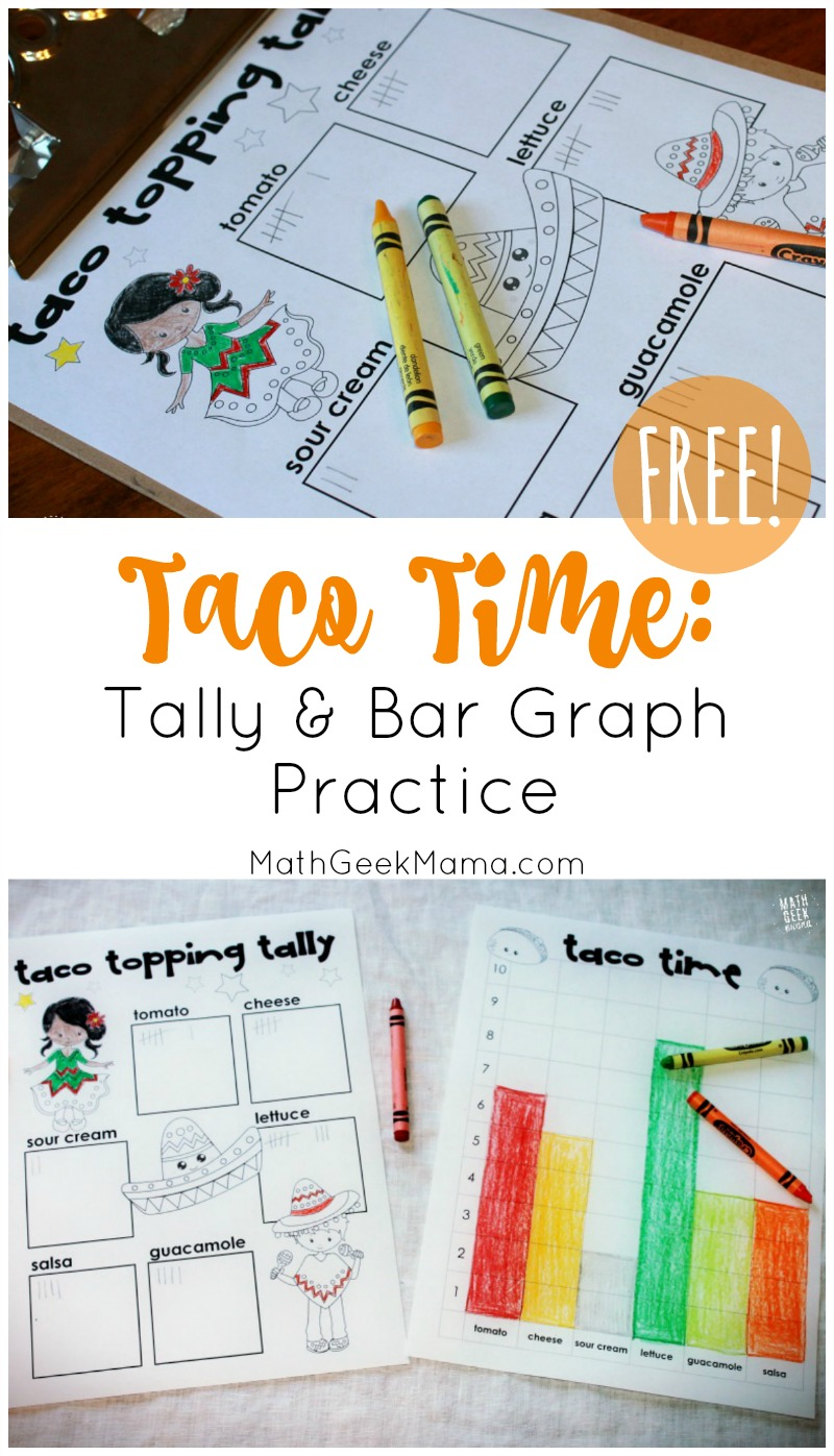 Teach kids how to collect data using tally marks, graph data on a bar graph and then interpret and analyze the data with this simple and FREE math lesson for kids! Who doesn't love Tacos? Even our youngest mathematicians can engage in meaningful data analysis.