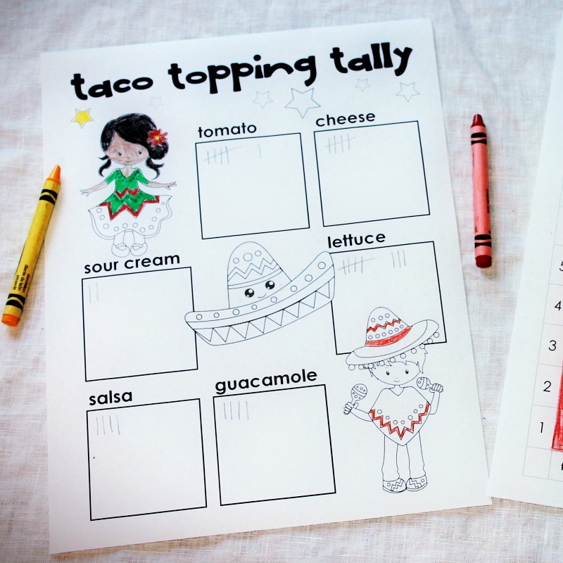 Give your kids practice with data collection and modeling on a bar graph with this adorable 'Taco Time' challenge. Grab the free printable set in this post, plus learn more about tally marks and meaningful questions you can ask as you analyze their bar graphs.