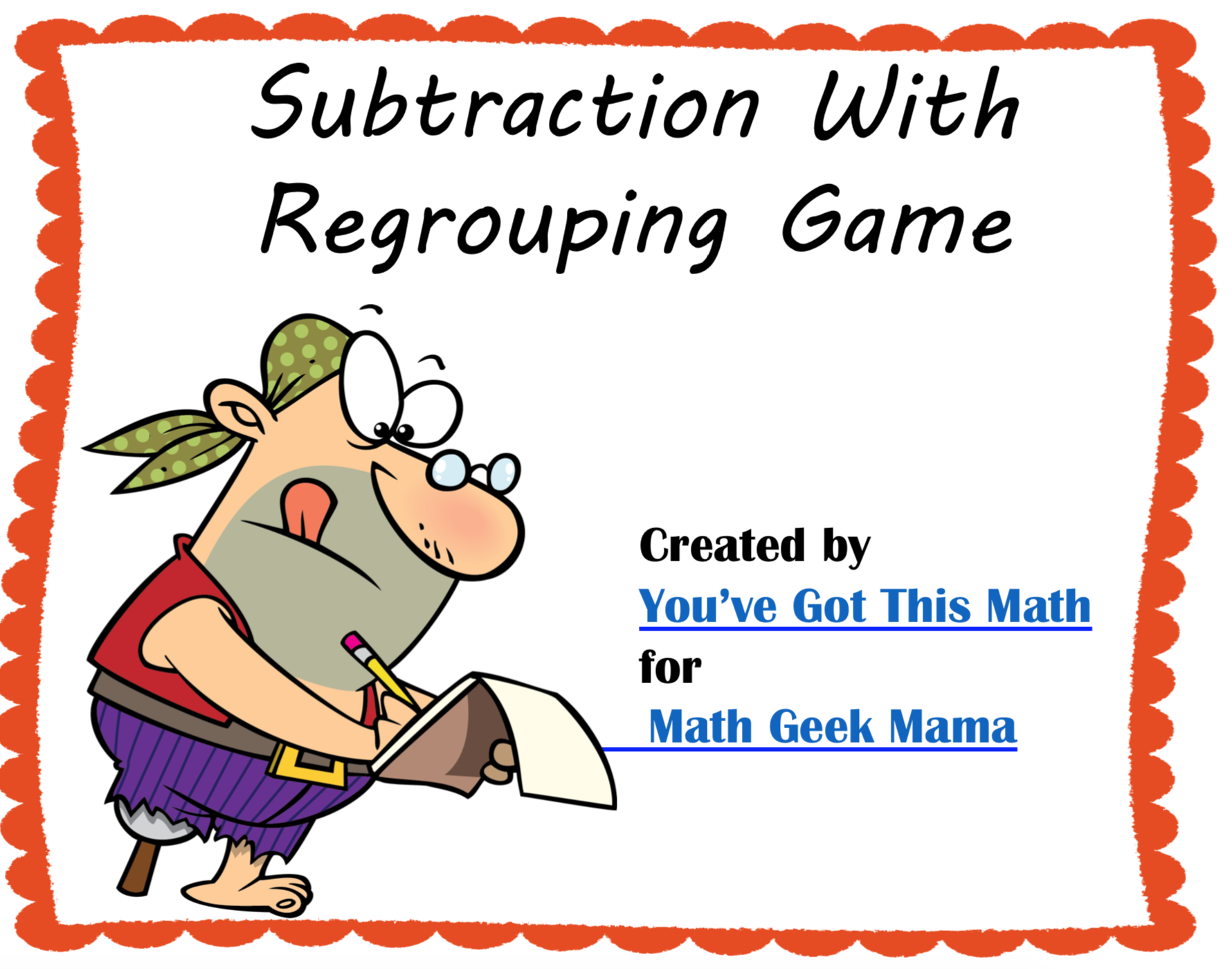 photo relating to Subtraction With Regrouping Games Printable named No cost 3-Digit Subtraction with Regrouping Match