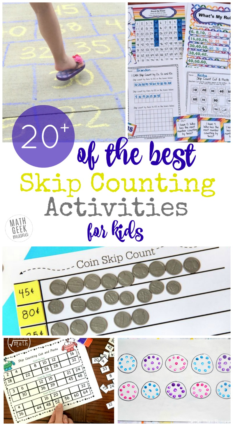 20 Unique Skip Counting Activities Kids Will Adore