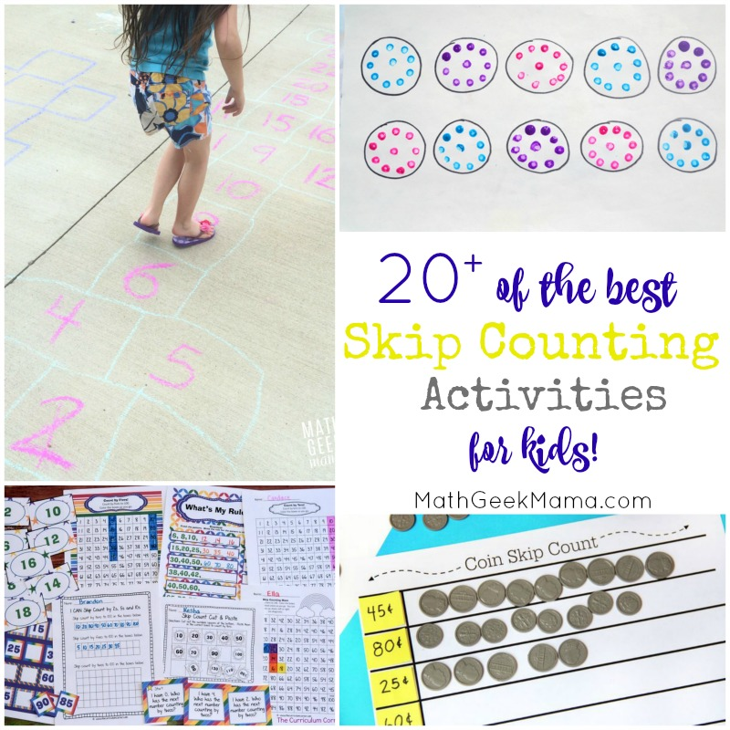 20+ Unique Skip Counting Activities Kids Will Adore