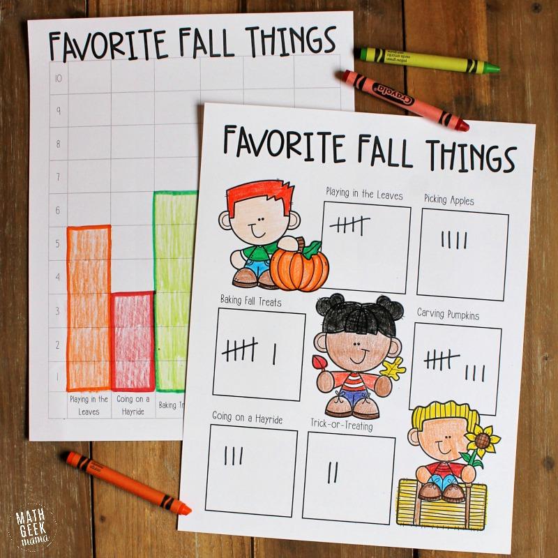 Fall Favorites: Simple Data Analysis for Kids {FREE}