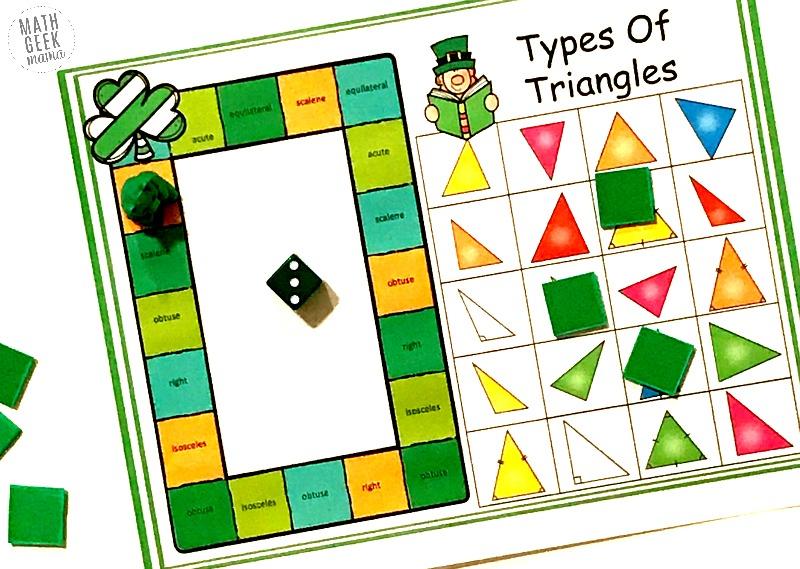 FREE} St. Patrick's Day Triangle Game Grades 4-6 Math Geek Mama