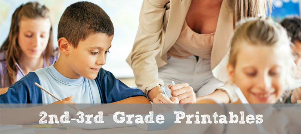 FREE 2nd-3rd Grade Math Printables - Math Geek Mama