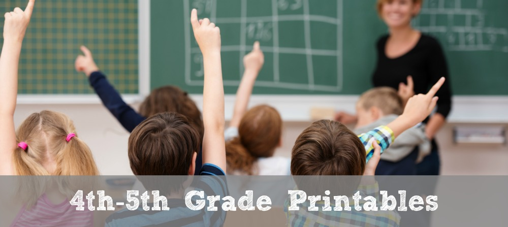 FREE 4th-5th Grade Math Printables - Math Geek Mama