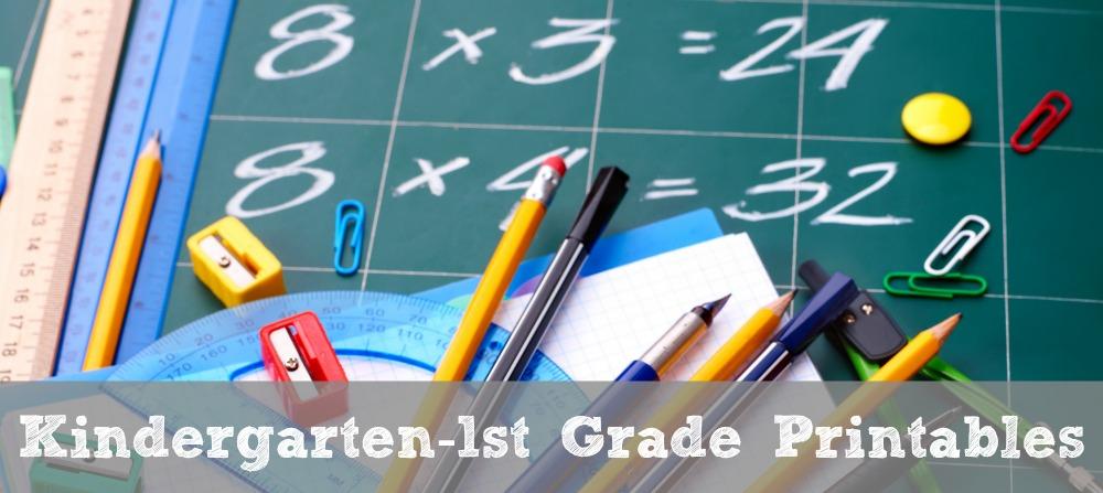 FREE Kindergarten-1st Grade Math Printables - Math Geek Mama