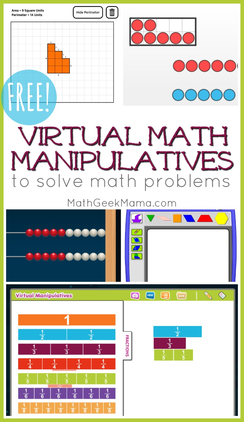 Free Online Math Manipulatives For At Home Learning Math Geek Mama
