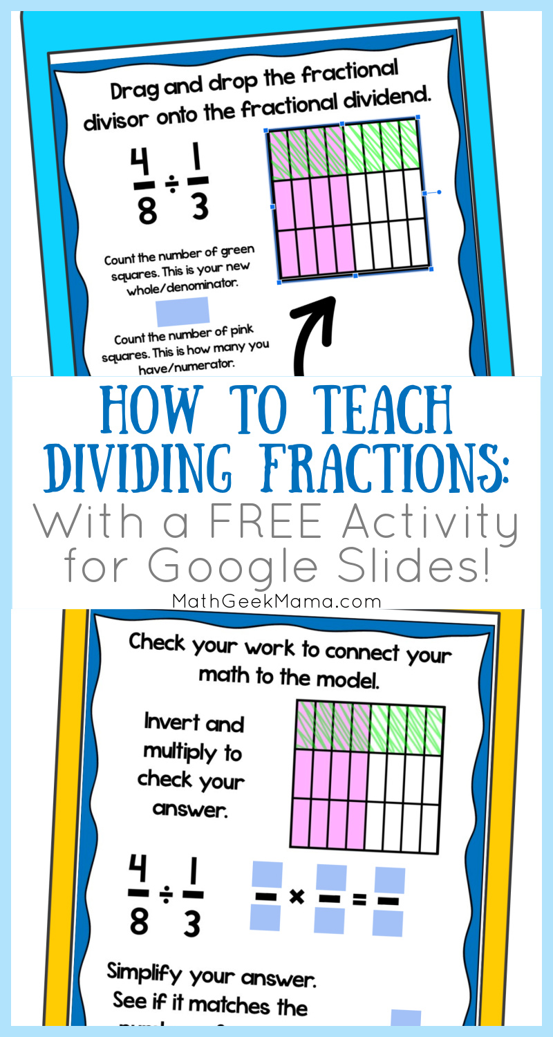 How to Teach Dividing Fractions With Models  FREE Practice With Dividing Fractions Using Models Worksheet