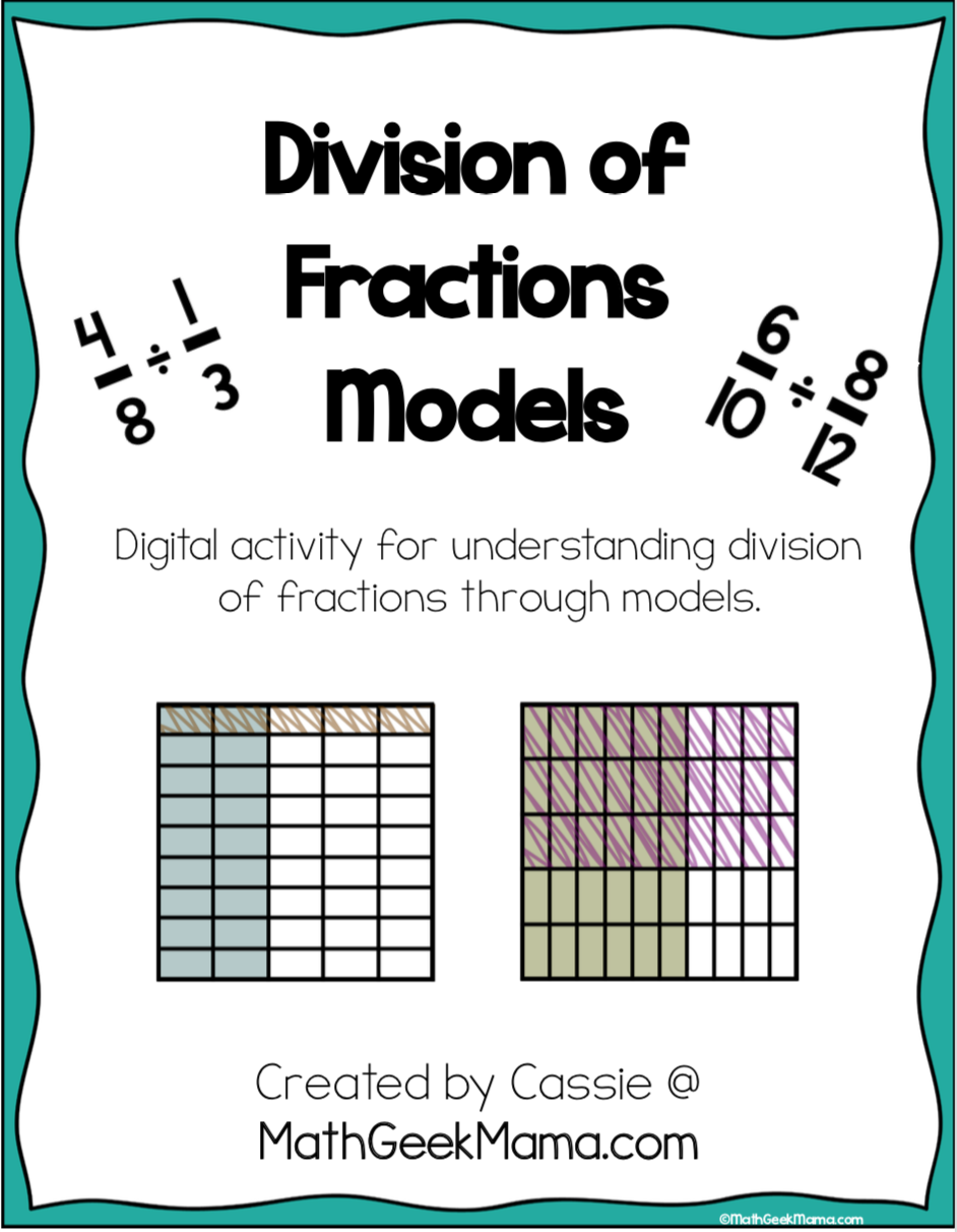How to Teach Dividing Fractions With Models  FREE Practice Pertaining To Dividing Fractions Using Models Worksheet